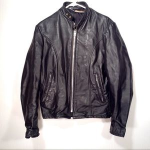 Vintage 50's Cafe Racer Motorcycle Jacket Size S